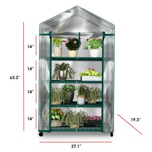 plant greenhouse on wheels