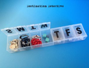 jewelry in pill box