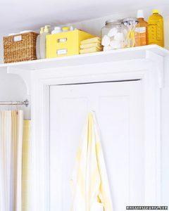 shelf over bathroom door