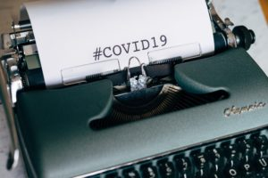 typewriter Covid-19