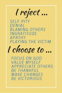 self-pity versus self-esteem