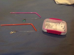 jewelry through straw